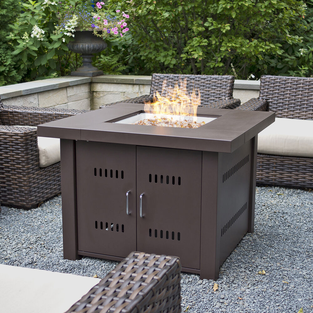 Outdoor Fire Pit Table Patio Deck Backyard Heater ...