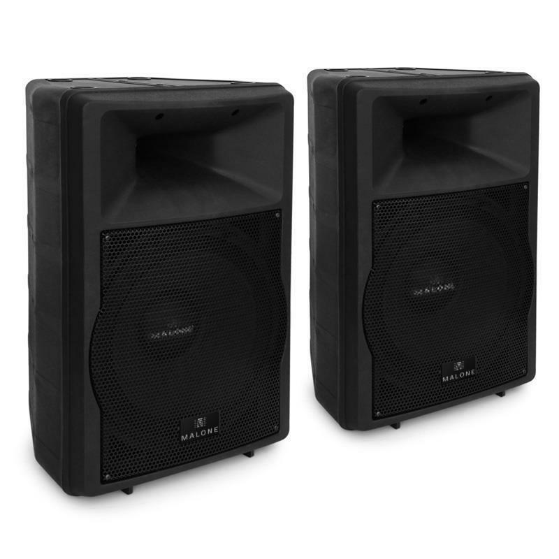 15 powered dj pa speaker pair with equalizers 1500w abs indoor outdoor monitor ebay