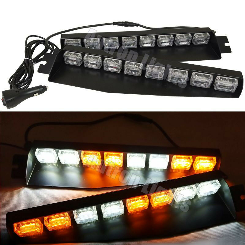 48 LED EMERGENCY FLASHING STROBE VISOR SUCKER WINDSHIELD