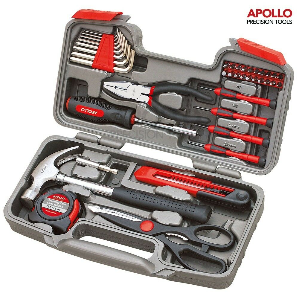 Home tool kit household repair set screwdrivers hammer pliers carry case hobby ebay - Household tools ...