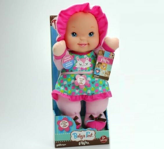 Baby S First Giggles Soft Plush 12 Quot Baby Doll W Laughing