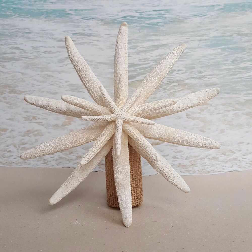 Beach Christmas Tree Topper: SALE Rustic Starfish Tree Topper- Beach Christmas Coastal
