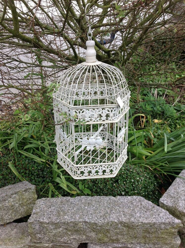 Birdcage decorative cage cage plant cage shabby lantern for Petite cage a oiseaux decorative