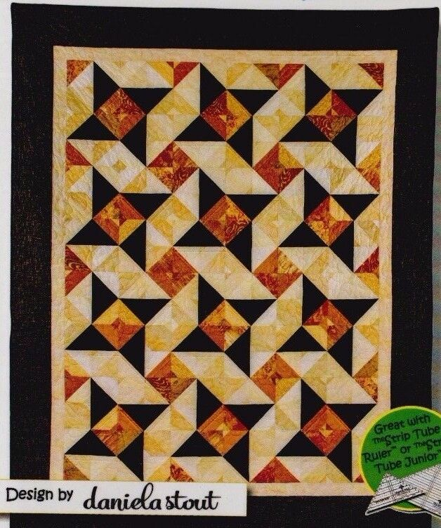 Quilt Patterns Using 6 Strips : Dazzle - pieced quilt PATTERN for 2.5