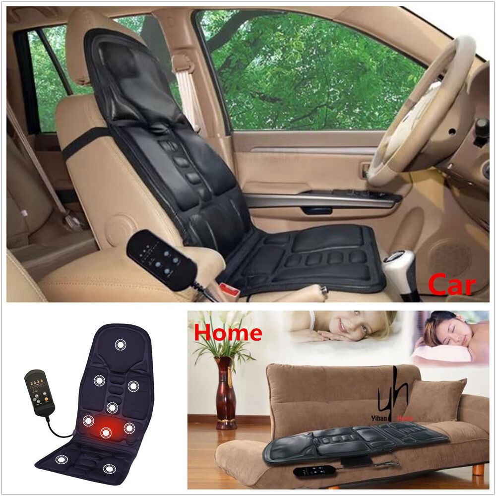universal 2in1 auto massage heating seat cushion cover warmer used car and home ebay. Black Bedroom Furniture Sets. Home Design Ideas