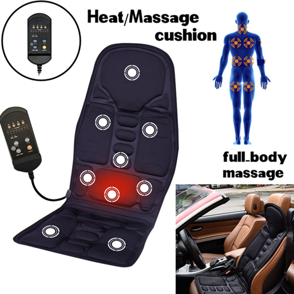 universal winter warm 2 in 1 auto car seat cover cushion w warm heated massage ebay. Black Bedroom Furniture Sets. Home Design Ideas