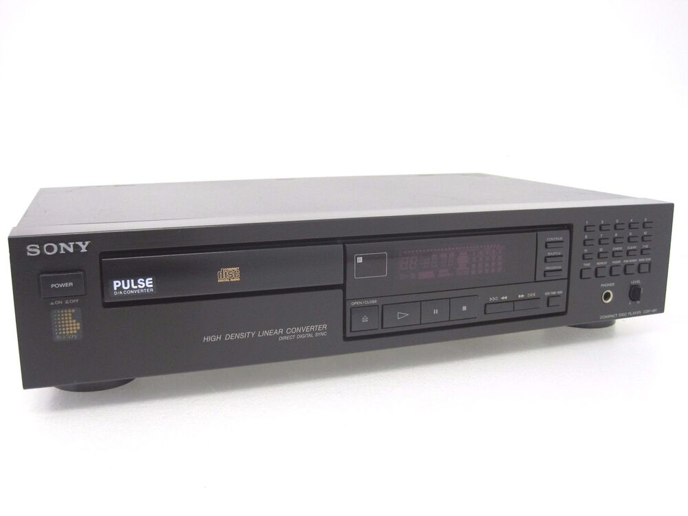 sony single compact disc cd player home audio cdp 491 made. Black Bedroom Furniture Sets. Home Design Ideas