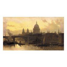 Roberts David St. Pauls from the Thames Looking West, A4 Fine Art Poster