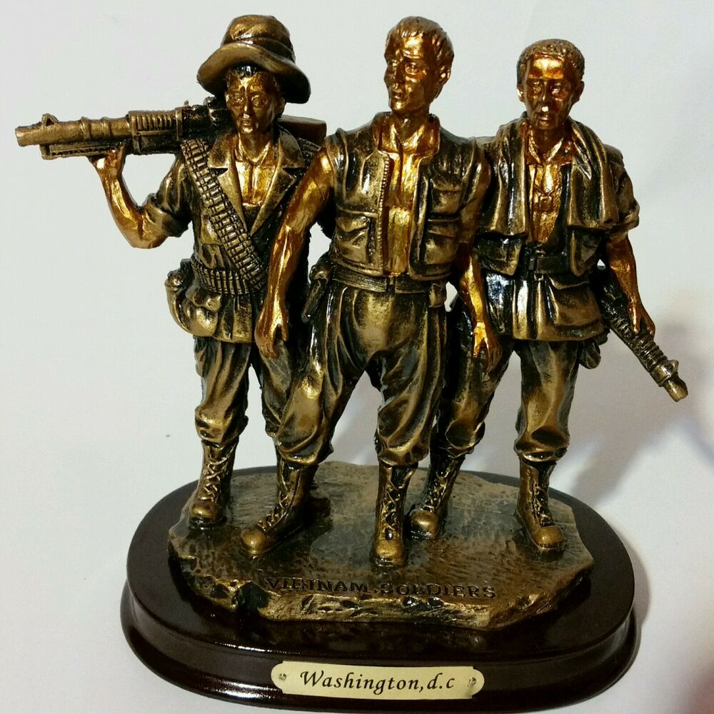 vietnam veterans war memorial replica statue 7 u0026quot  the 3 soldiers not franklin mint