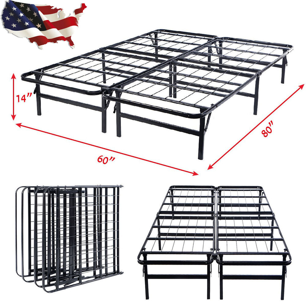 Queen size foldable platform metal bed frame mattress for New bed frame