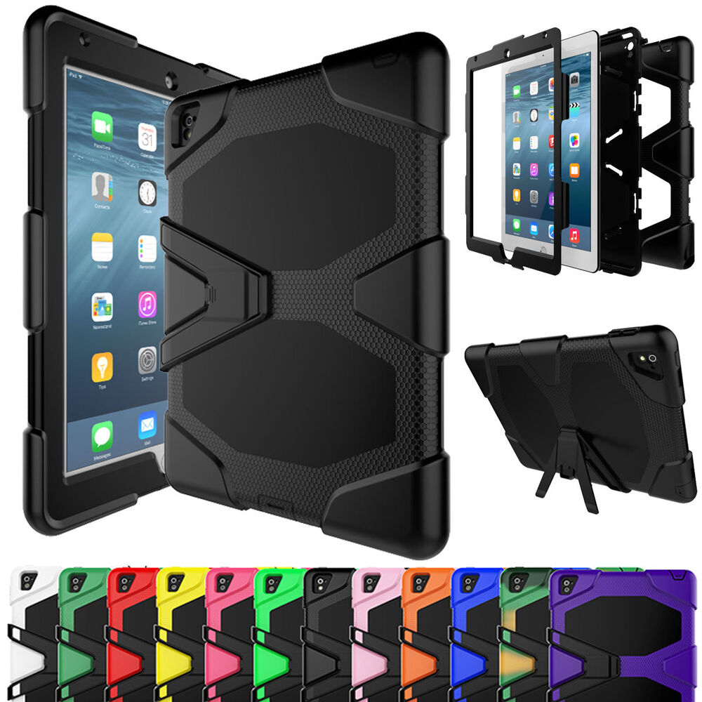 For Ipad Tablet Shockproof Military Armor Rubber Hard Case