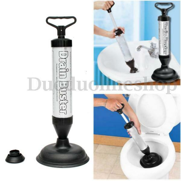 new drain buster suction handle powerful suction plunger bath toilet cleaner. Black Bedroom Furniture Sets. Home Design Ideas