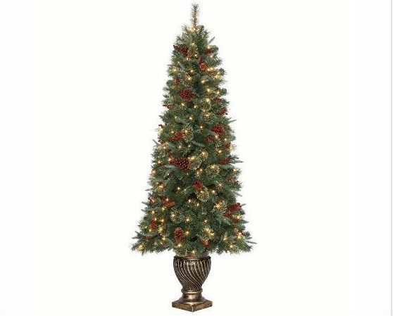 6.5 Ft Hayden Pine Potted Artificial Christmas Tree With
