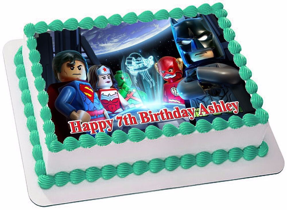 BATMAN LEGO EDIBLE ICING CAKE TOPPER PARTY IMAGE FROSTING ...