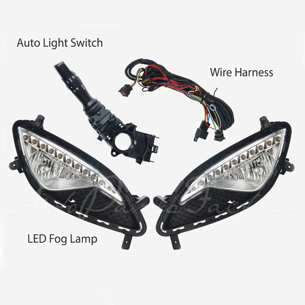OEM ( with LED DRL ) Fog Light Lamp Complete Kit for Hyundai Genesis Coupe  13-15 | eBay