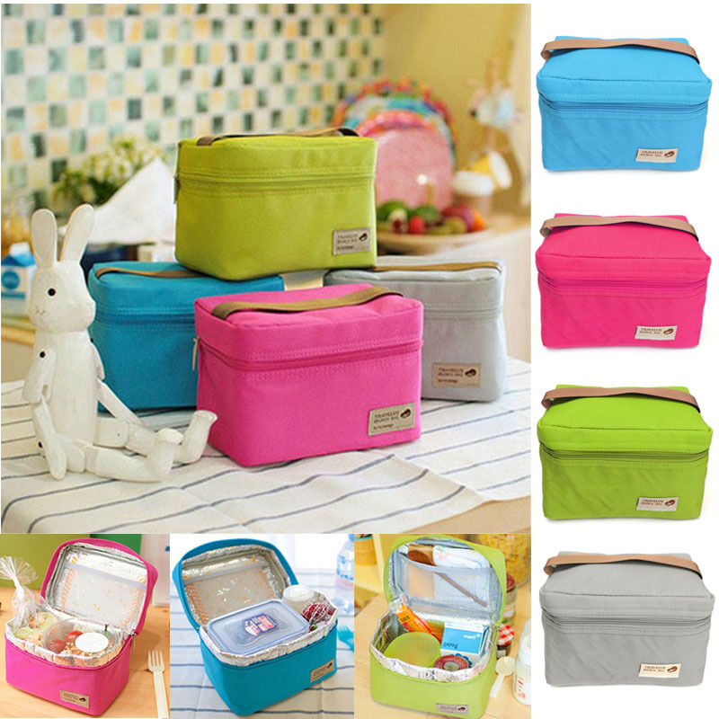 portable insulated thermal lunch box carry tote storage bag picnic bento usst. Black Bedroom Furniture Sets. Home Design Ideas