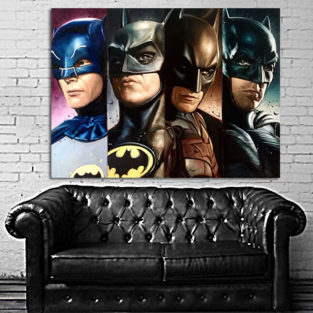 Poster mural batman generations dark knight 24x32 inch for Dark knight mural