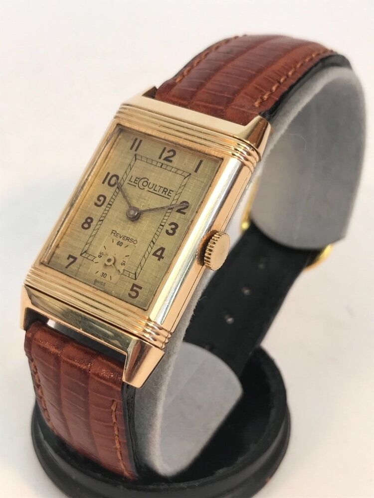 1930s jaeger lecoultre reverso 18k gold vintage watch rare ebay for Lecoultre watches