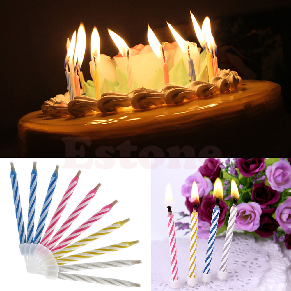 Details About Funny 10 Magic Relighting Trick Candles Birthday Fun Party Cake Kids Toys New