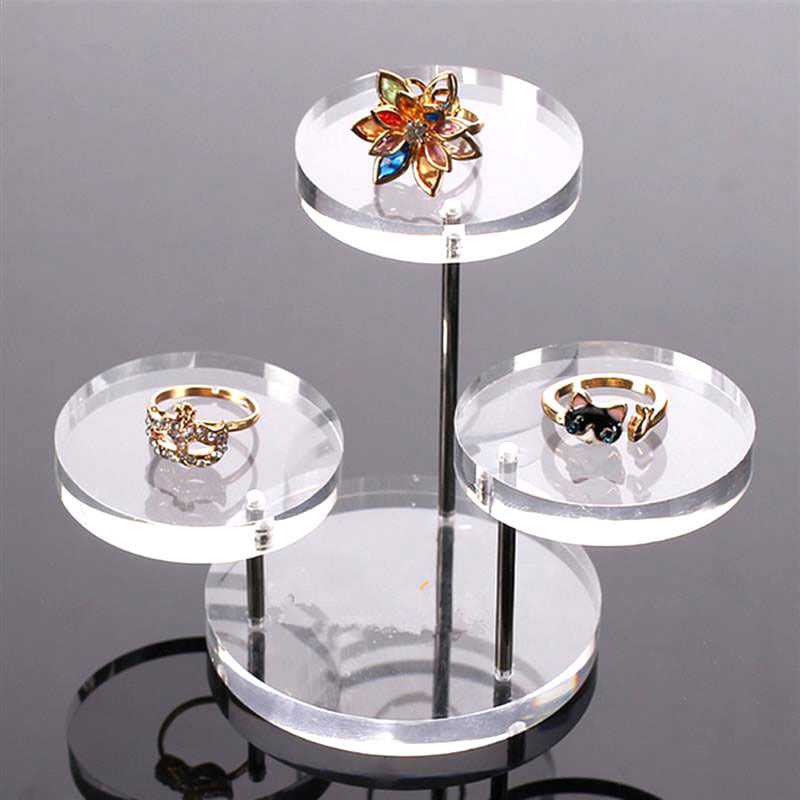 Acrylic Jewelry Display Necklace Bracelet Round Table
