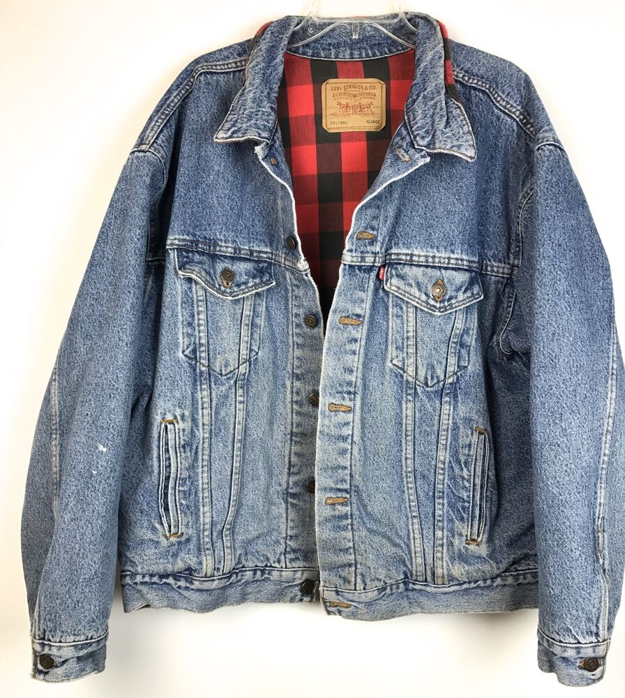 Vintage Levis Flannel Lined Denim Jean Jacket Plaid Blue Mens XXL Pre-Owned. $ Buy It Now Vintage Levis Flannel Lined Denim Jacket See more like this. Vtg LEVIS 80's DENIM JACKET Flannel Plaid Lined Trucker Size 42 MENS. Pre-Owned. $ or .