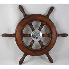 Antique salvaged Trojan Helm Wheel  Ship wheel   20
