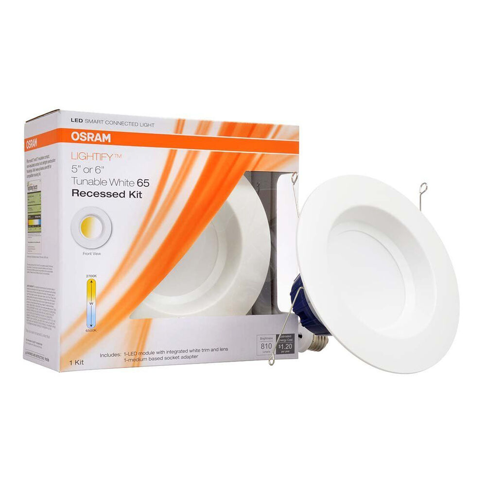 sylvania osram lightify 65w led recessed smart home 2700 6500k white light bulb ebay. Black Bedroom Furniture Sets. Home Design Ideas