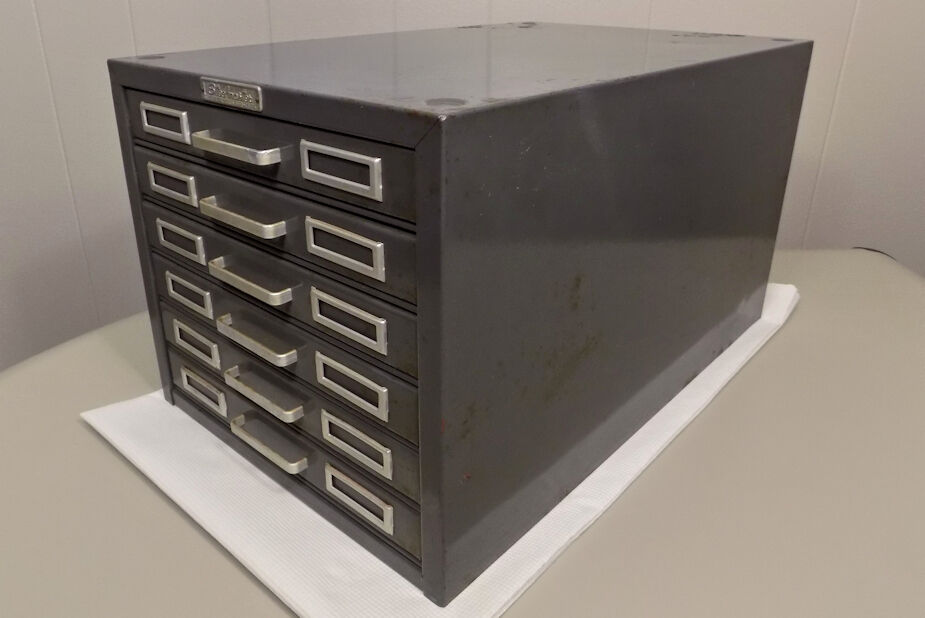 Steelmaster 6 Drawer Index Card File Cabinet Industrial