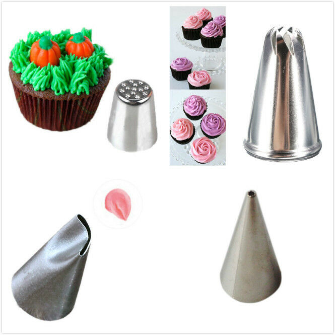 Cake Decorating Nozzle Guide : Icing Piping Nozzles Tips Pastry Bag Cake Cupcake ...