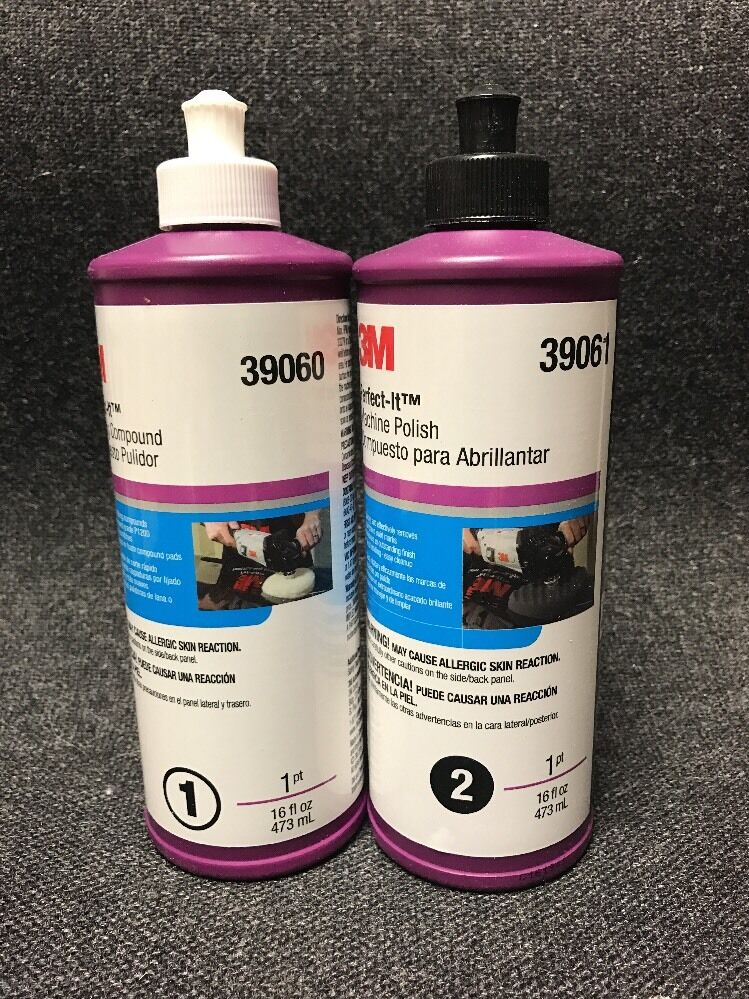 3m perfect it rubbing machine polishing compound 16 oz 3m 39060 3m 39061 ebay. Black Bedroom Furniture Sets. Home Design Ideas