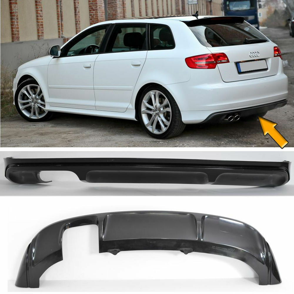 spoiler audi a3 8p sportback 2005 2008 spoiler rear diffuser ebay. Black Bedroom Furniture Sets. Home Design Ideas