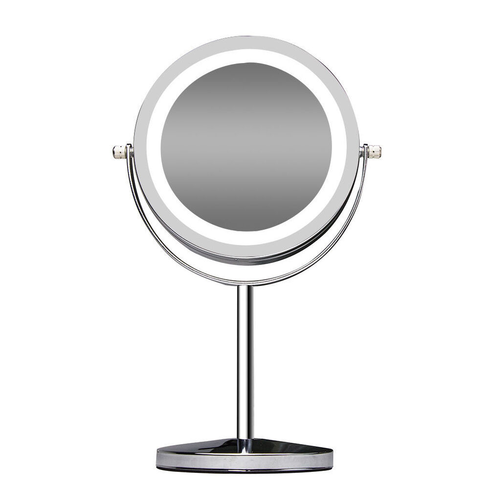 Double Sided Makeup Mirror Magnifying Stand Lighted Cosmetic Vanity Mirrors U