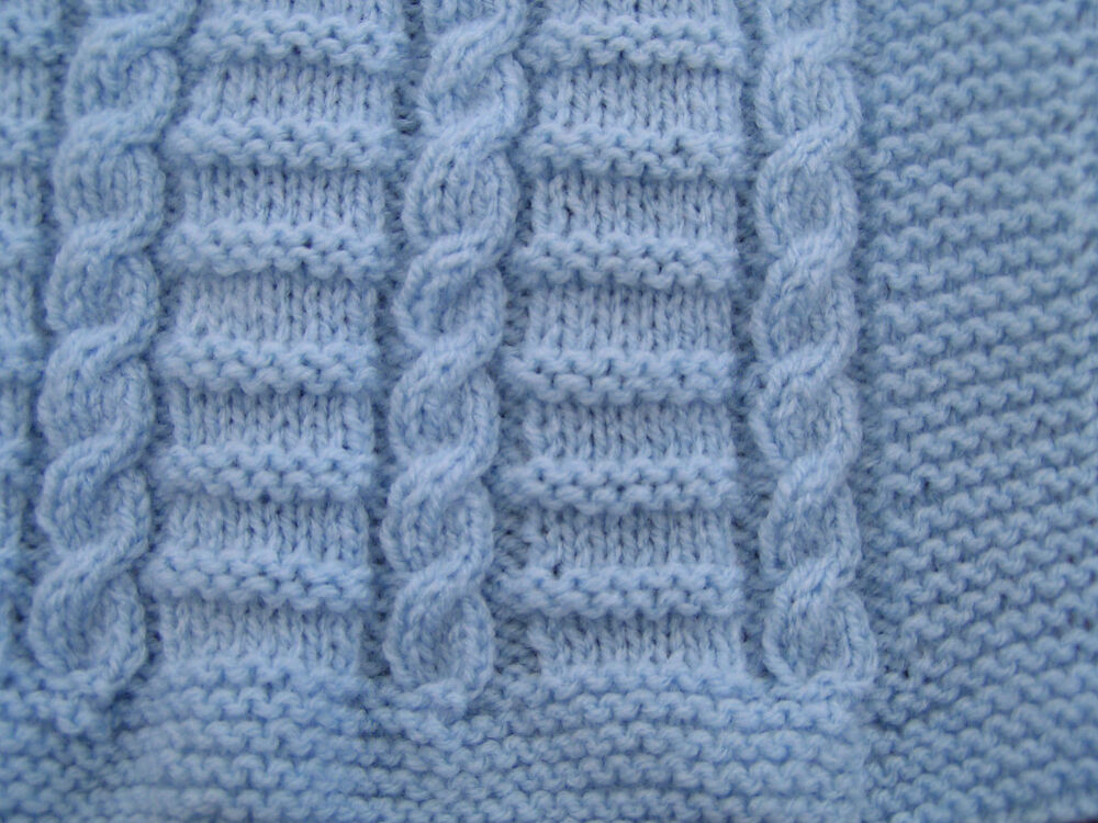 Easy Knitting Pattern For Baby Blanket : Easy to knit cable baby blanket pattern in dk ebay