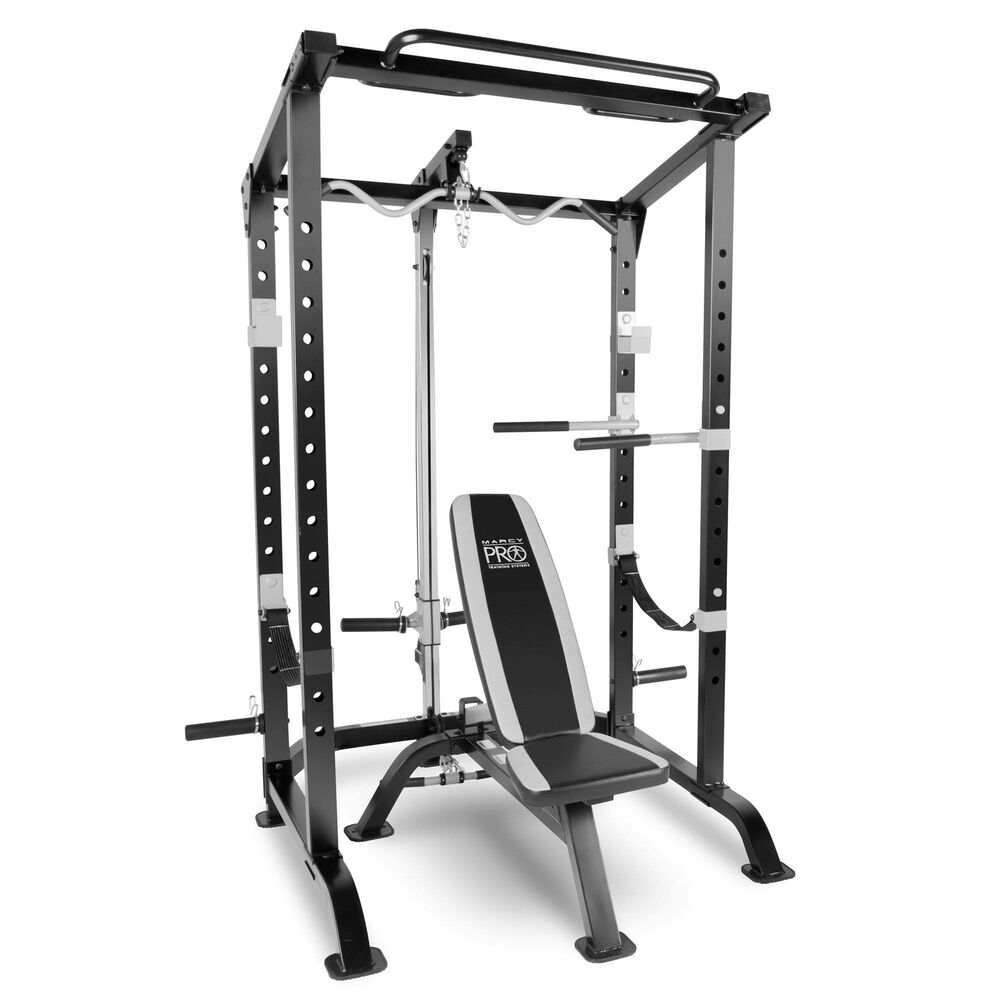 Marcy Pro Full Cage And Weight Bench Personal Home Gym Total Body Workout System Ebay