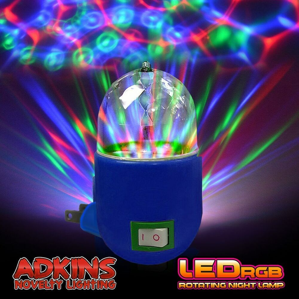 led disco party night light ships from usa led rgb rotating night lamp ebay. Black Bedroom Furniture Sets. Home Design Ideas