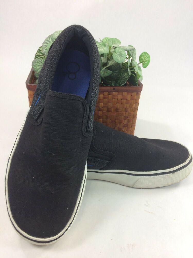 op 7 s canvas tennis shoes black gray loafers slip