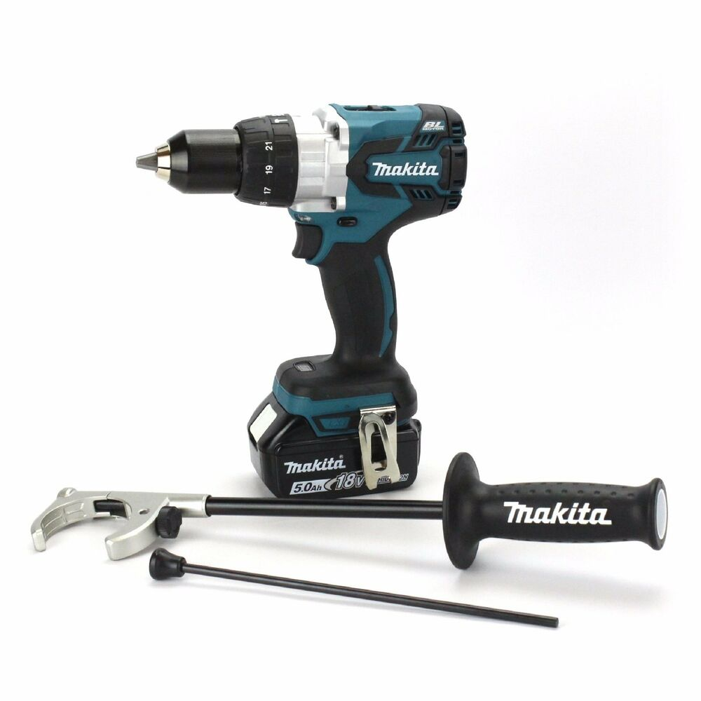 makita dhp481z 18v li ion lxt brushless hammer drill bl1850b 5 0ah battery ebay. Black Bedroom Furniture Sets. Home Design Ideas