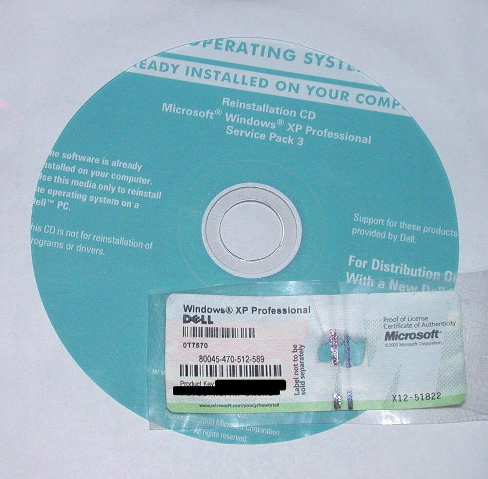 New Windows XP Professional 32 bit SP3 - Full Version with ...