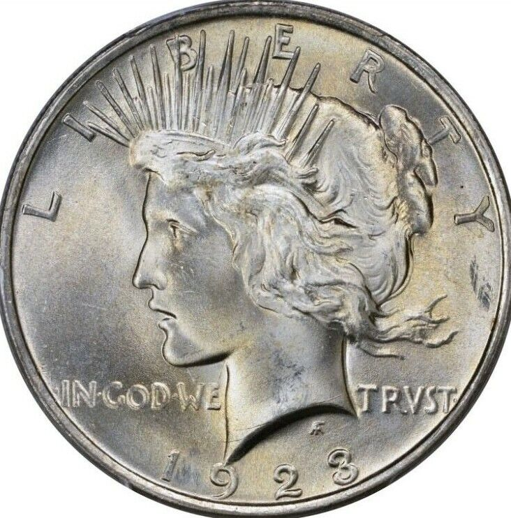1923 Peace Silver Dollar Brilliant Uncirculated Bu Ebay
