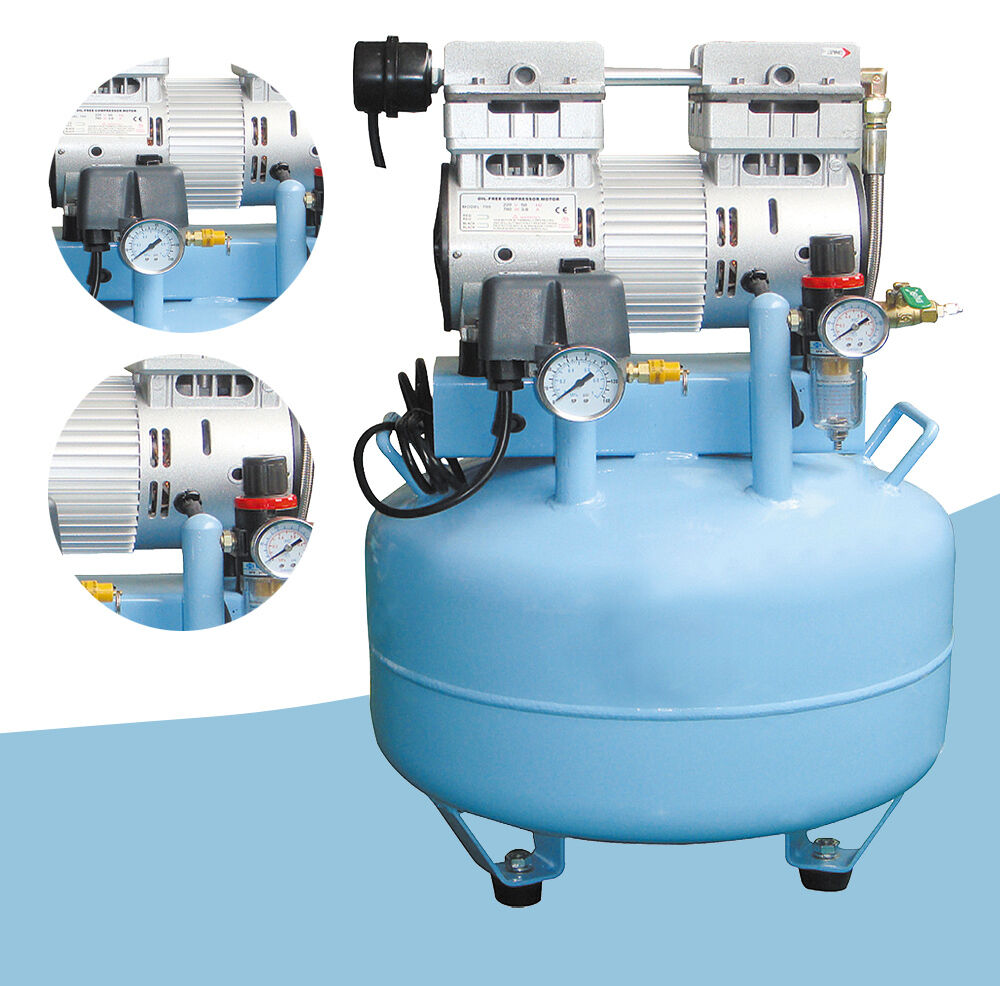 Oilless Air Compressor >> 1HP Medical Noiseless Air Compressor Oil Free Oilless for 2 units Dental Chairs   eBay