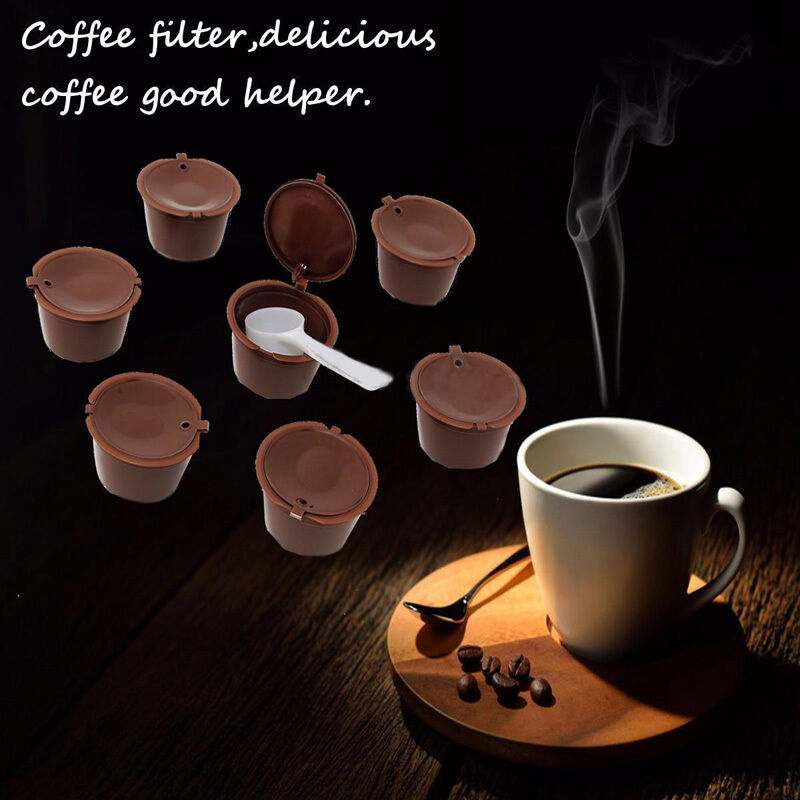 7stk nachf ll kapseln f r nescafe dolce gusto kaffee wiederverwendbar refill neu ebay. Black Bedroom Furniture Sets. Home Design Ideas