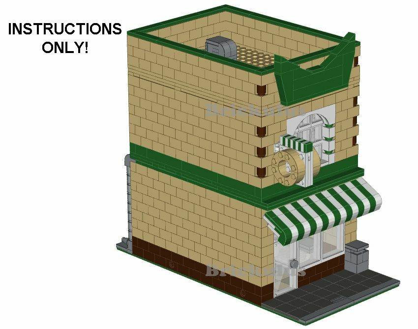 Lego Donut Shop Modular Building Custom Instructions Cd Ebay