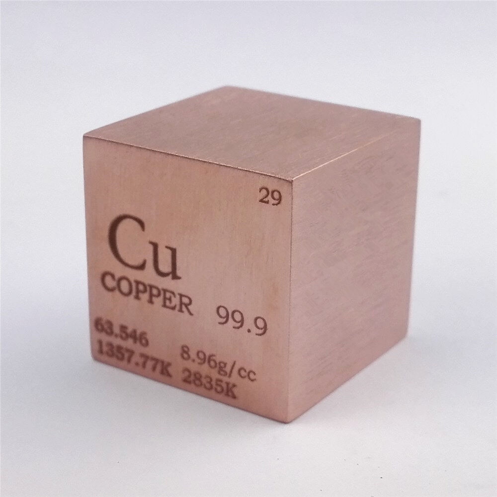 1 Inch 25 4mm Copper Metal Cube 146g 99 9 Engraved