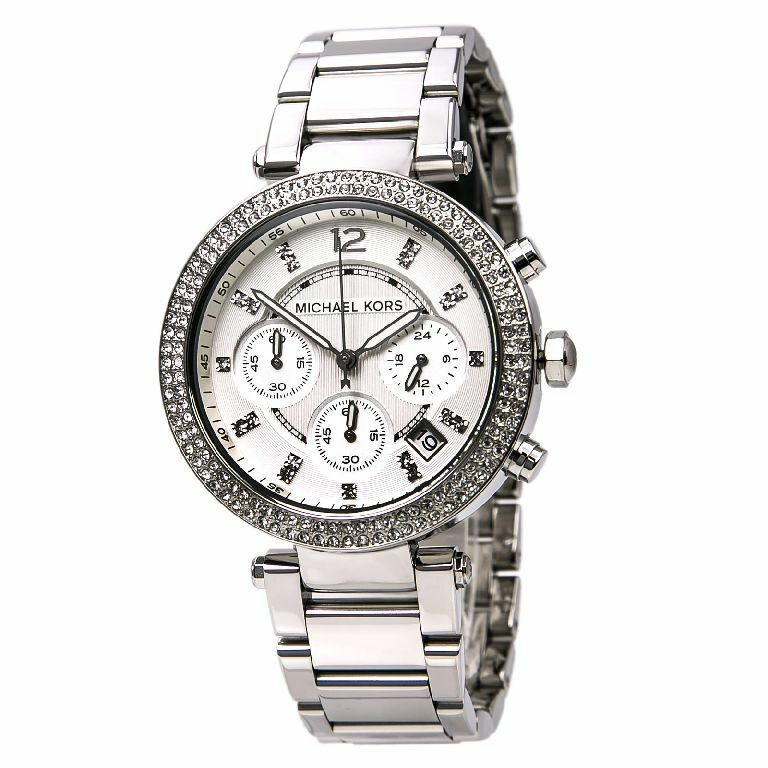 michael kors uhr mk5353 parker silber damen chronograph. Black Bedroom Furniture Sets. Home Design Ideas
