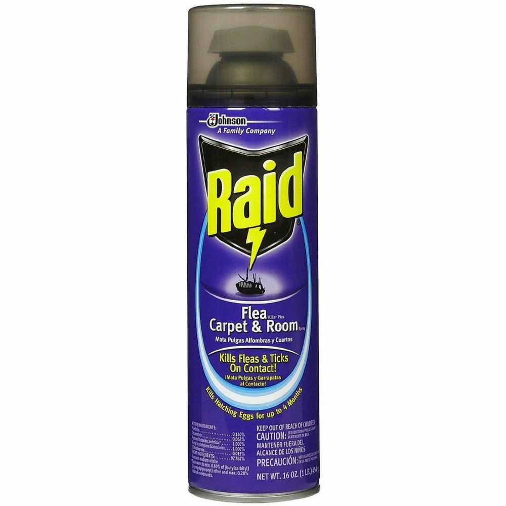 Raid Flea Killer Plus Carpet Room Spray 16 Oz Pack Of 6
