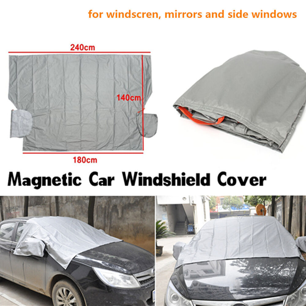 Magnetic Car Windshield Cover Sun Snow Frost Ice Cotton ...