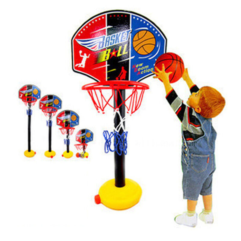 kinder basketballst nder ball geschenk mini basketball set mit basketballkorb ebay. Black Bedroom Furniture Sets. Home Design Ideas