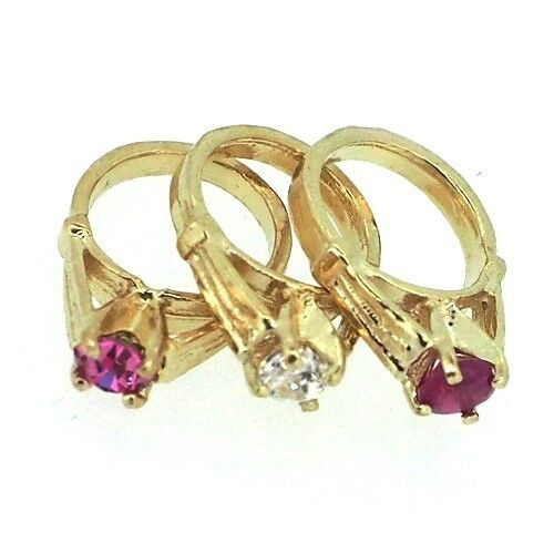 14k Yellow Gold Birthstone Ring Small Charm For Necklace