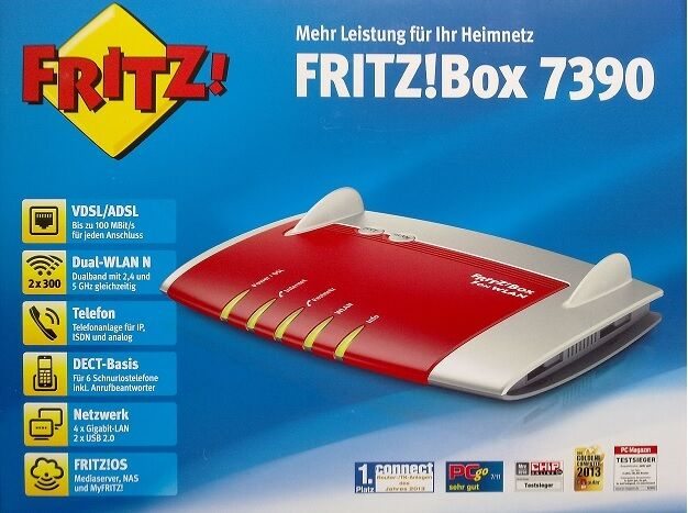 fritz box 7390 wlan ohne vdsl funktion f repeater kabel glasfaser sky on deman ebay. Black Bedroom Furniture Sets. Home Design Ideas