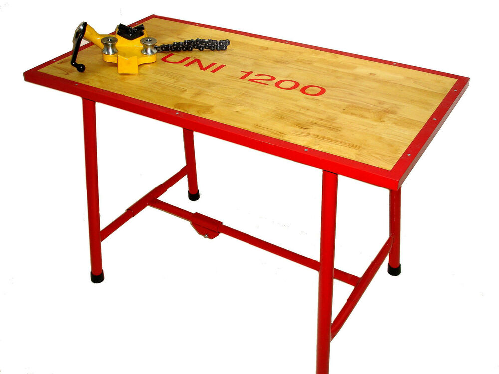 Uni Collapsible Workbench 1200x620x820 With 5 In Chain Vice Ebay